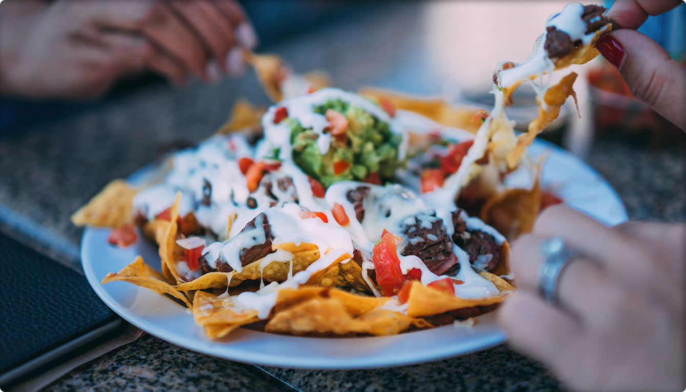 This post is about sharing, and these people are sharing Nachos.